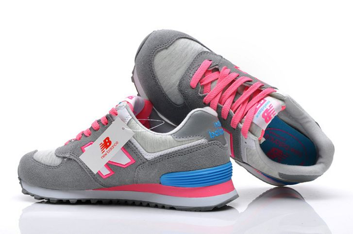 new balance 574 bleu gris rose